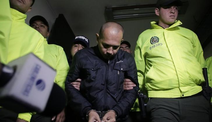 Juan Carlos Sánchez Latorre, alias El Lobo Feroz en el complejo judicial de Paloquemao.