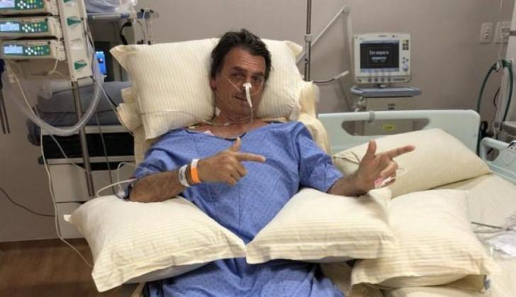 Bolsonaro desde la clínica.