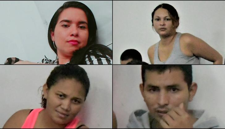Yesley Atehortúa, Angie Hernández, Yoharis Alvis Torres y Luis Alberto Hernández.