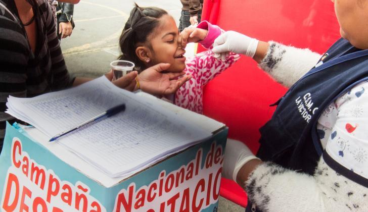 Campaña de prevención en Perú.