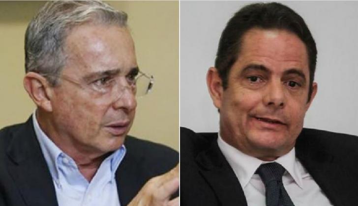Álvaro Uribe y Germán Vargas Lleras.