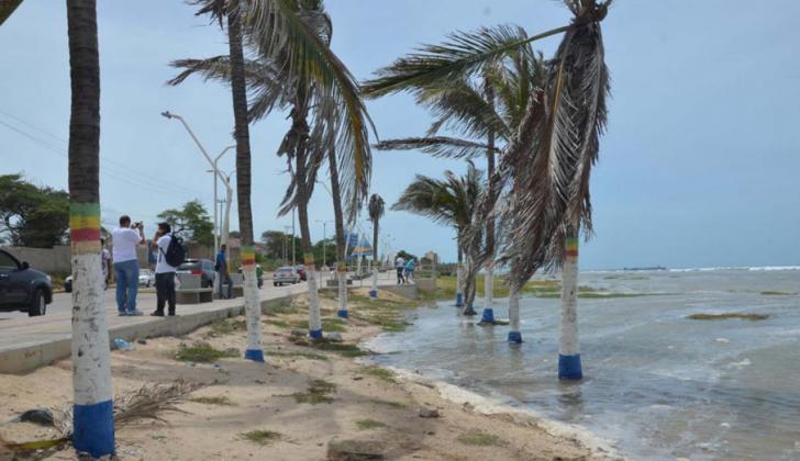 Vista del sector de la playa en Riohacha.