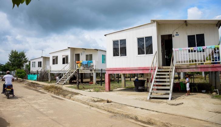 Estas fueron las casas construidas por el Fondo Adaptación en Santa Lucía.