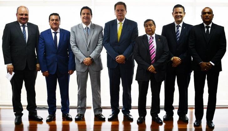Los integrantes del Comité Ejecutivo de la FCF.