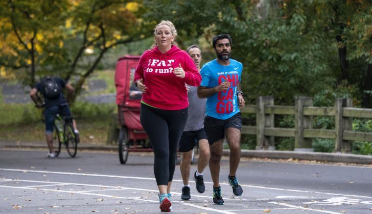 Julie Creffield cuenta que empezó a correr en 2010.
