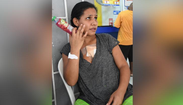 Charlyn Pereira Ruiz, víctima de agresión por parte de su expareja.