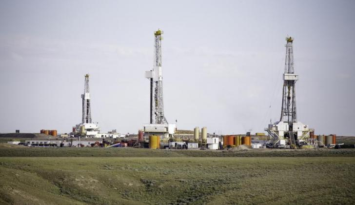 Equipos de fracturación hidráulica en Estados Unidos.