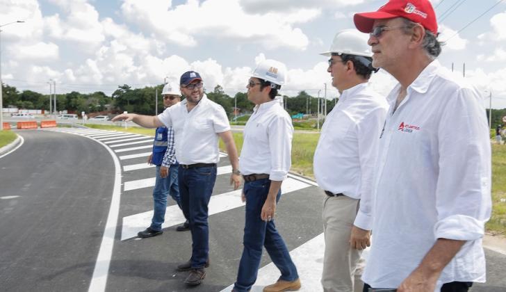 El gobernador Eduardo Verano inspeccionó la semana pasada las obras de la Circunvalar de la Prosperidad, con el presidente de la ANI.