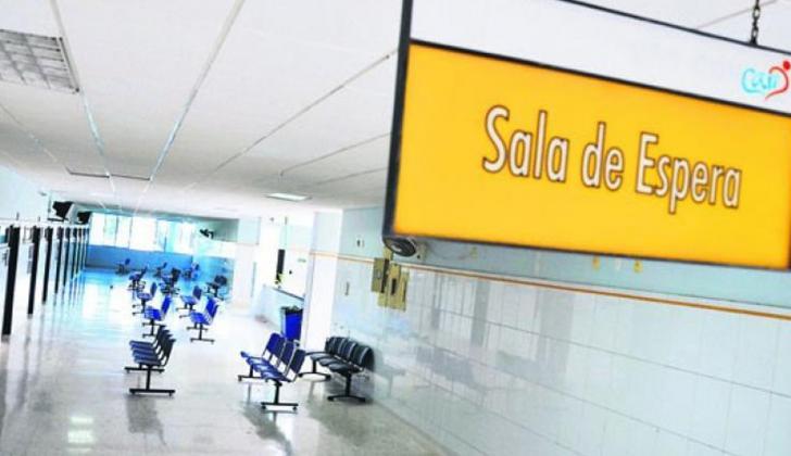 Sala de espera de un centro médico en Barranquilla.