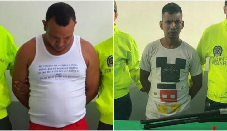 Joaquin Segundo Mercado Gomez y Roberto Andrés  Martínez, capturados.