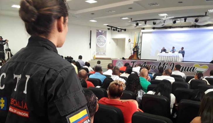 Aspecto de la jornada anticorrupción adelantada por la Fiscalía en el Cesar.