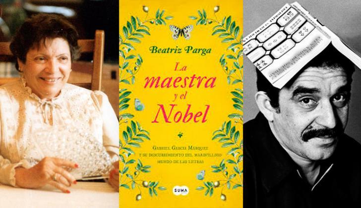 La maestra de Gabo Rosa Helena Fergusson y el Nobel de Literatura Gabriel García Márquez.