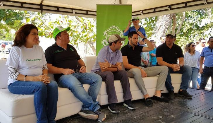 El arquero del Junior, Sebastián Viera, asistió al evento.