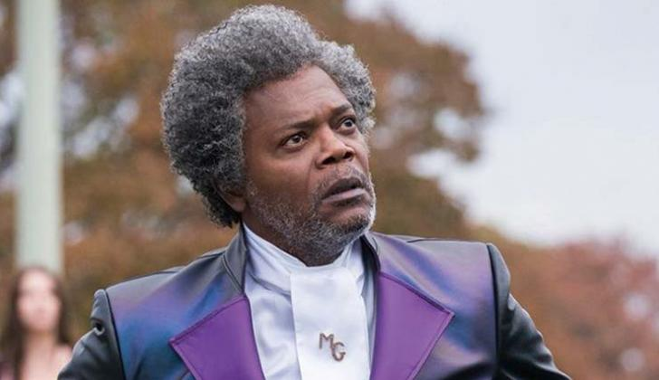 Samuel L. Jackson interpreta a Mr.  Glass.