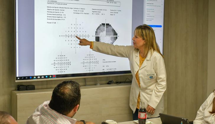 Patricia Amarís, especialista en glaucoma.