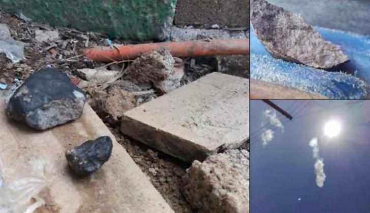 El material que cayó sobre el área de Pinar del Río.