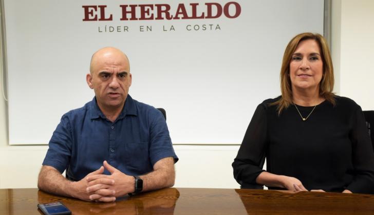 El presidente del Banco Agrario, Francisco Mejía, y la gerente regional Lilia Castillo.