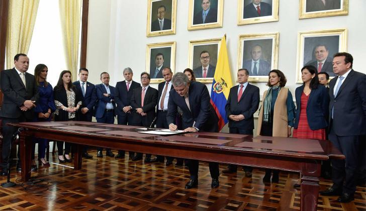 El presidente Iván Duque radicó el Plan Nacional de Desarrollo en el Congreso.