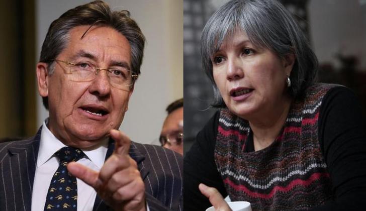 Néstor H. Martínez, fiscal general, y Patricia Linares, presidente de la JEP.