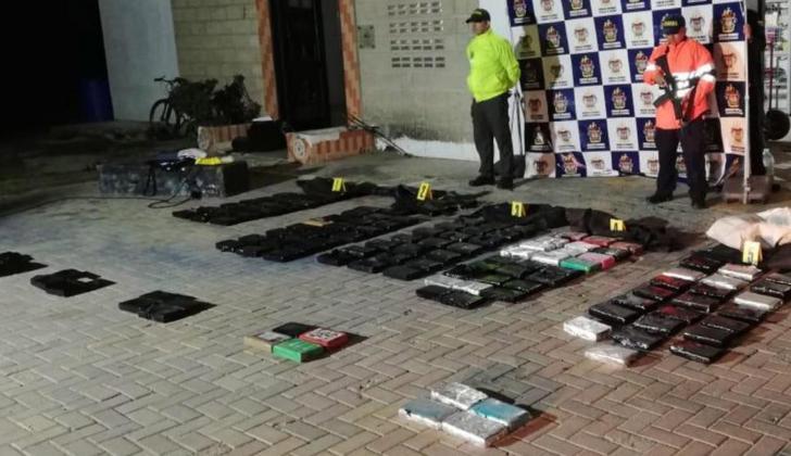 175 kilos de cocaína fueron incautados en las últimas horas a orillas del río Magdalena.