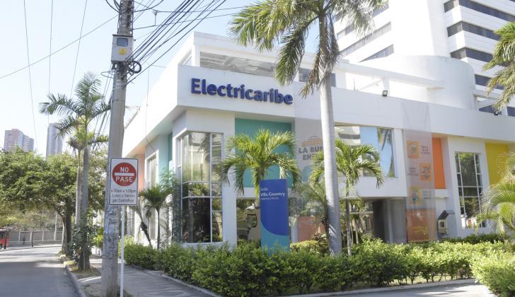 Fachada de la sede de Electricaribe en el norte de Barranquilla.