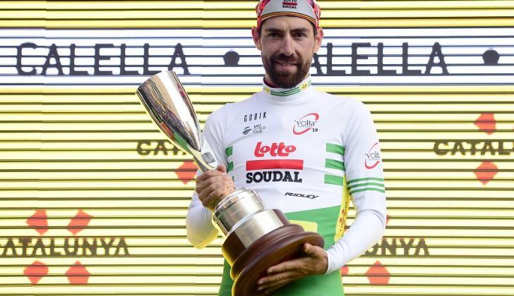 El belga Thomas de Gendt (Lotto Soudal) se convirtió este lunes en el primer líder de la Vuelta a Cataluña.