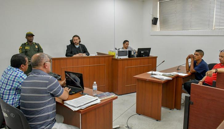 Aspecto de las audiencias preliminares contra Brayan Rivera Hernández.