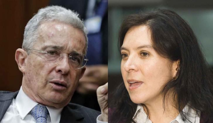 Álvaro Uribe y Myriam Martínez.