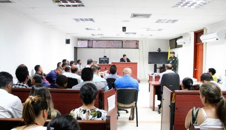 Vista de una de las audiencias del denominado 'Cartel de las pensiones'