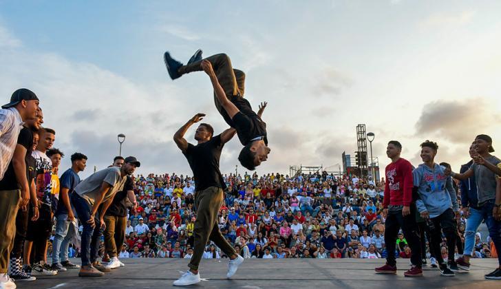En un enfrentamiento de 'Free Style' se midieron los estudiantes de danza urbana de las Casas de Cultura y la Escuela Distrital de Arte.