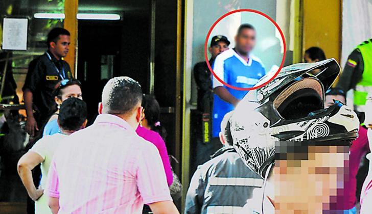 Carlos Julio Garcés Baleta el día de su captura.