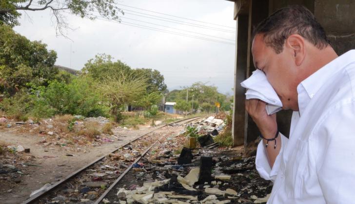 Alberto Lleras se quebró al llegar al sitio del siniestro, ocurrido en Mamatoco, Santa Marta, el 11 de enero de  1970.