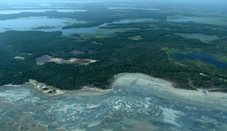 La Ciénaga Grande del Magdalena, una de las áreas de la Región Caribe deforestada.
