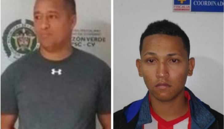 'Franklin Malembe' (izq.) y su sobrino Yohandry Javier González.