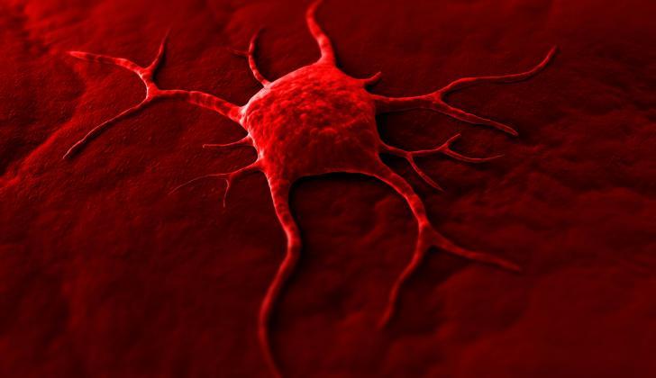 Cada caso es único y dependiente de la genética. Arriba una ilustración de una célula cancerígena.