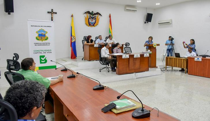 Aspecto de la sesión del Concejo de Barranquilla que se llevó a cabo ayer.