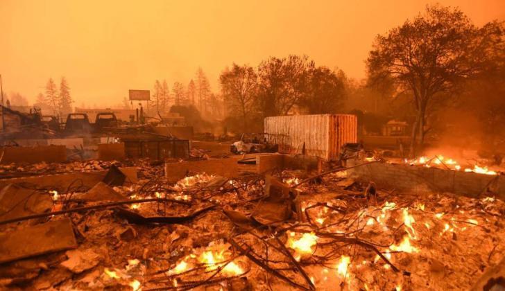 Aspecto del incendio del pasado 8 de noviembre que acabó con Paradise, una ciudad del norte de California.