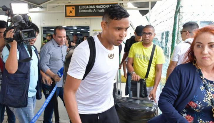 Muriel arribo a Barranquilla para visitar a su familia en Santo Tomás.