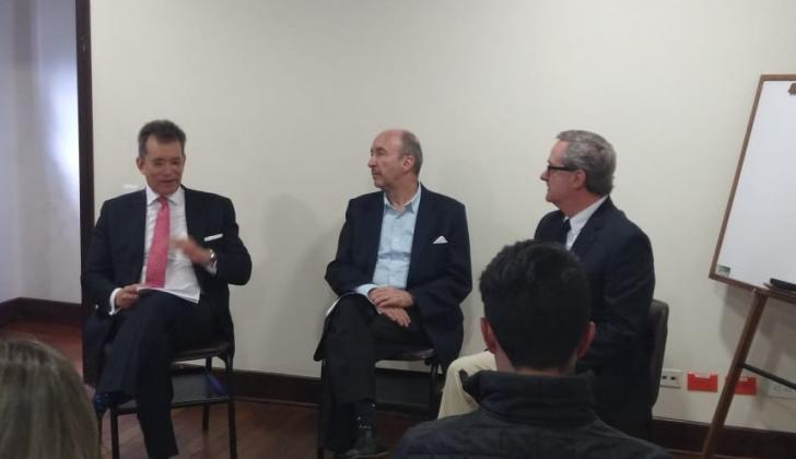 El presidente de Analdex, Javier Díaz, y el vicepresidente de Fenalco, Eduardo Visbal.