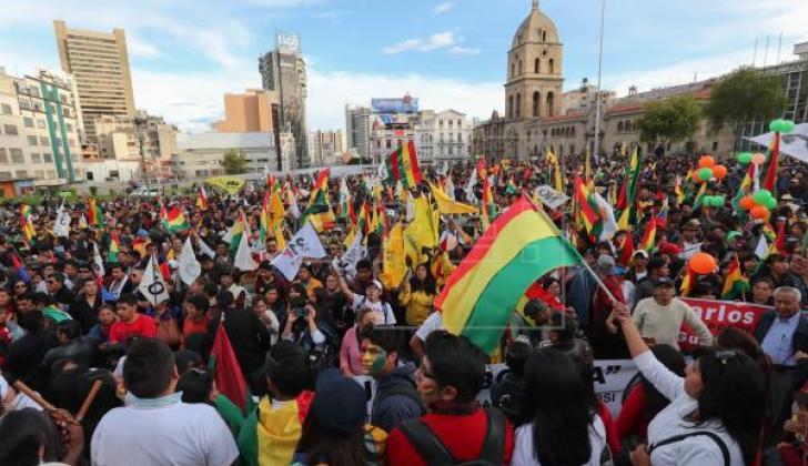 Marcha del 21 de febrero contra reelección.
