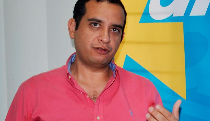 Jacobo Quessep, alcalde de Sincelejo, en su visita a la sede de EL HERALDO.
