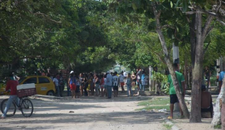 Sector del barrio El Pueblito, donde se registraron los hechos.