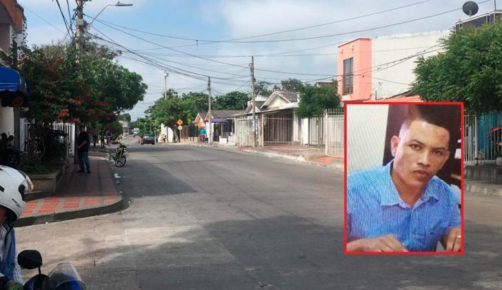 Sector del barrio San Felipe, donde fue asesinado Jainer Pérez Miranda (en el recuadro).