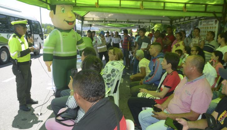 Los conductores fueron educados con diferentes campañas.