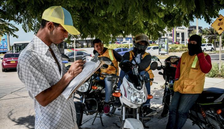 Algunas de las organizaciones de mototaxistas ya tienen secretarios que llevan registro de los recorridos.
