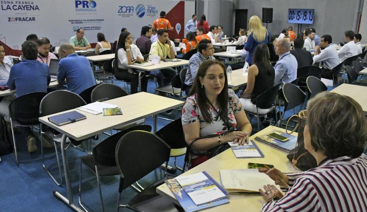 Empresarios que participaron en la rueda de negocios de ExpoProBarranquilla.