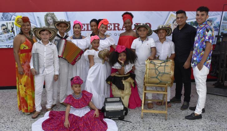 El grupo Son Gorettiano en su visita a EL HERALDO.