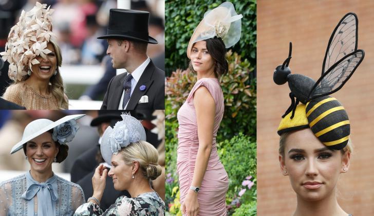 Máxima de Holanda, Príncipe William, Kate Middleton, Georgia Fowler y una modelo.