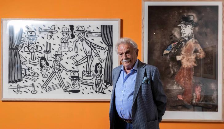 El pintor Antonio Seguí expone medio centenar de sus obras en la Biblioteca Nacional de Francia en París, a la que acaba de donar medio millar de ellas, entre estampas, porfolios y libros ilustrados.