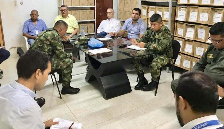 Consejo de seguridad extradornario en San José de Uré.